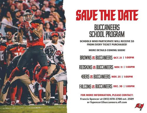 Bucs Ticket Dates