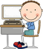 computer with child