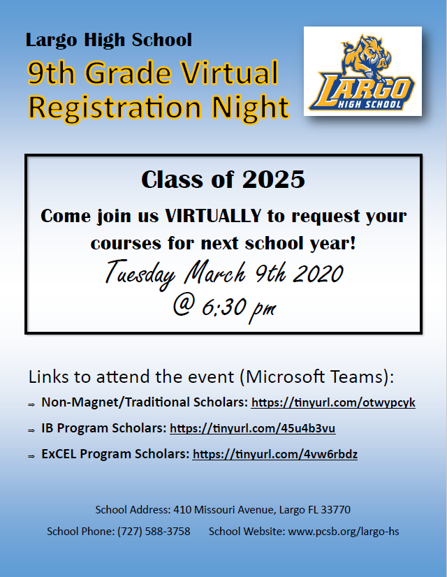 9th Grade Virtual Registration Night