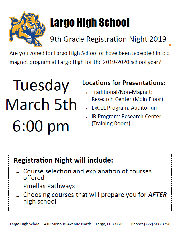 Are you going to Largo High next year?