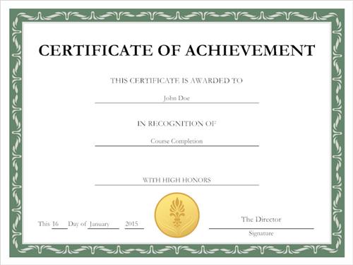 Certificate of Completion / Certificate of Completion