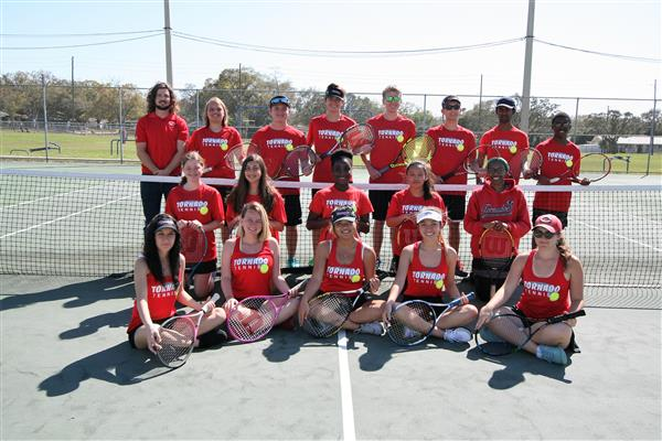 boys and girls tennis team photo