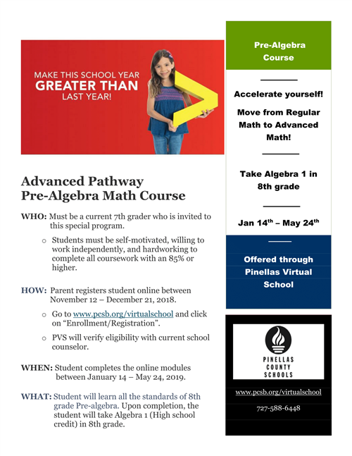 Advanced pathway flyer
