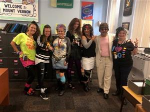 office staff dresses for the 80s FSA Rock Show