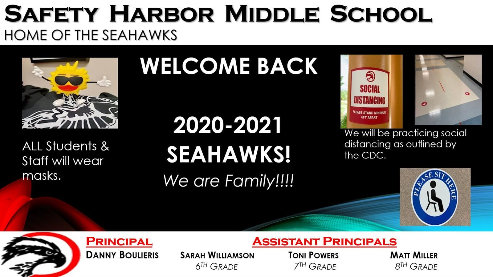 Hello Seahawk Families! Let's Get Ready for Our First Day Of School!