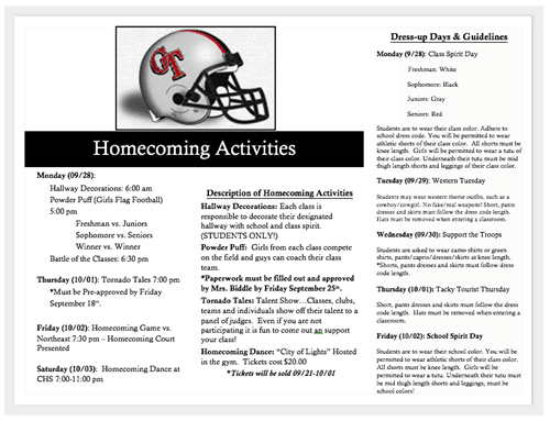 Homecoming Activities