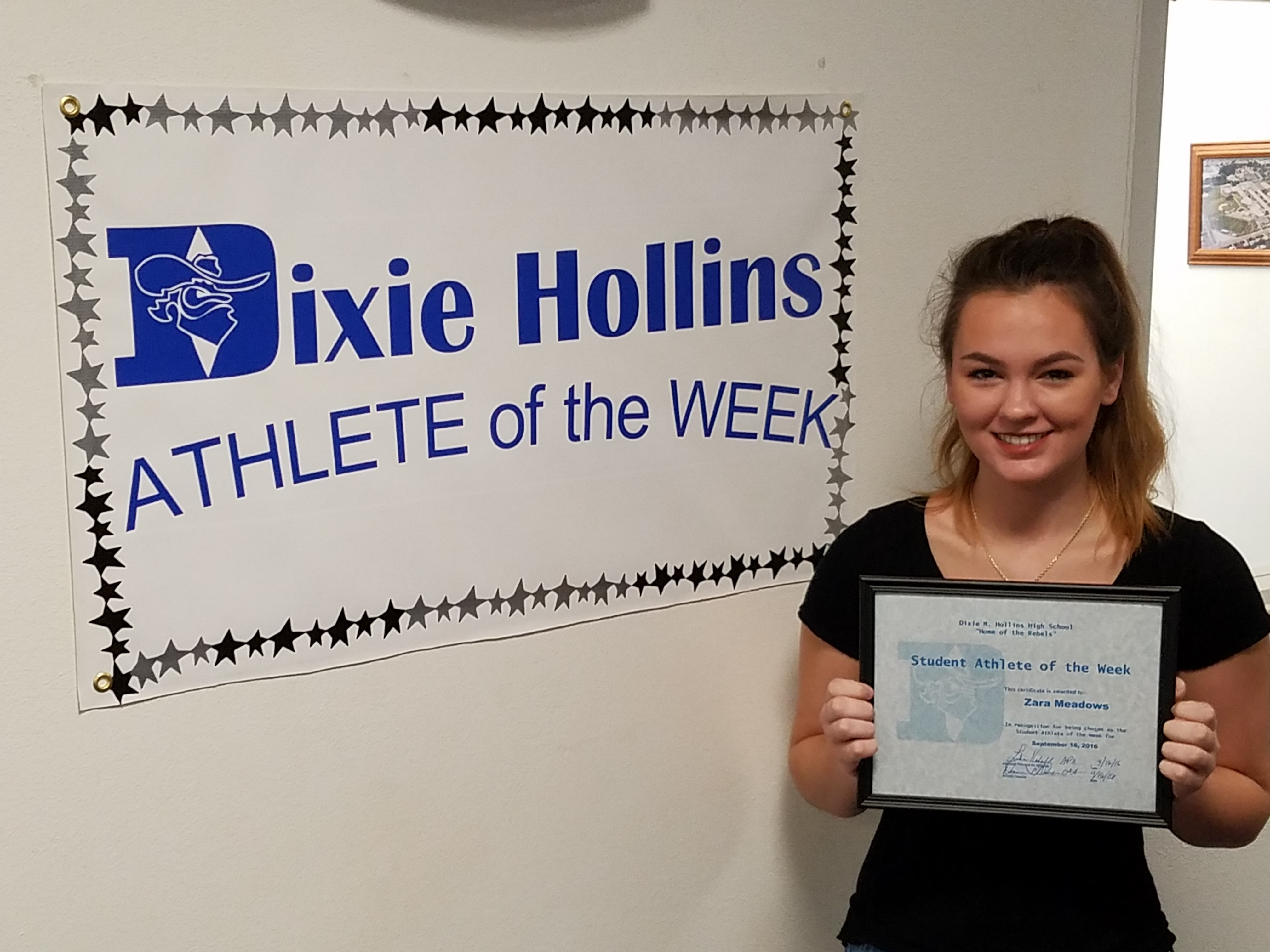 Zara Meadows-Athlete of the Week!