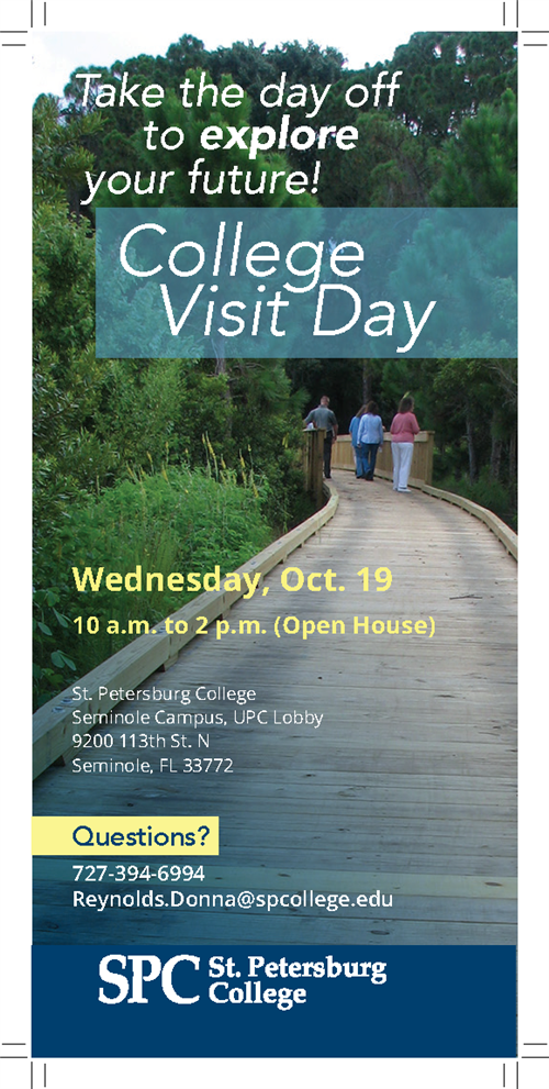College Visit Day Flyer
