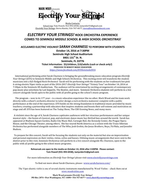 Electrify Your Strings Information