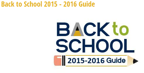 Back to School 2015-2016 Guide
